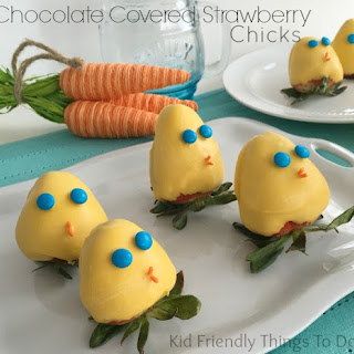 Adorable Chocolate Covered Strawberry Spring Chicks
