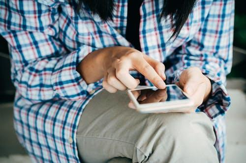 Person Using Phone