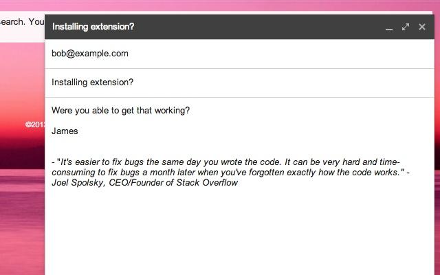 Random signature quotes for gmail chrome web store altavistaventures Gallery