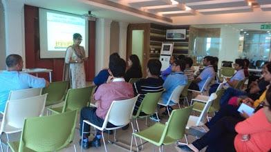 Photo: Ritika conducting a Disability Sensitisation Workshop in L'Oreal, Chembur (Mumbai)