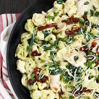One Pot Chicken Tortellini Skillet