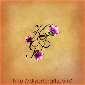 Lettere stilizzate: 10 motivi decorativi trittico tattoo | tattoo
