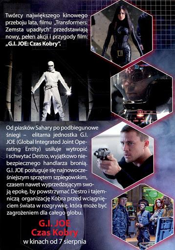 Tył ulotki filmu 'G.I. Joe: Czas Kobry'