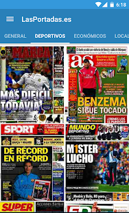 Spanish Newspaper Front Pages- screenshot thumbnail