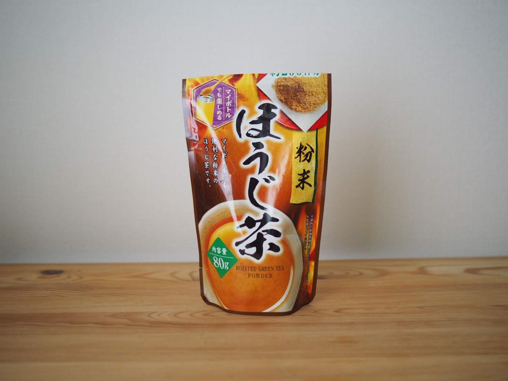粉末ほうじ茶のパッケージ