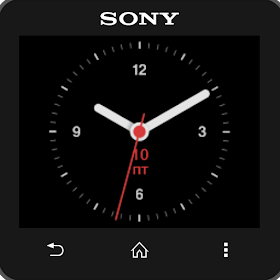 Round analog clock widget