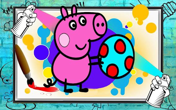 Peepa Pig Coloring Book Poster