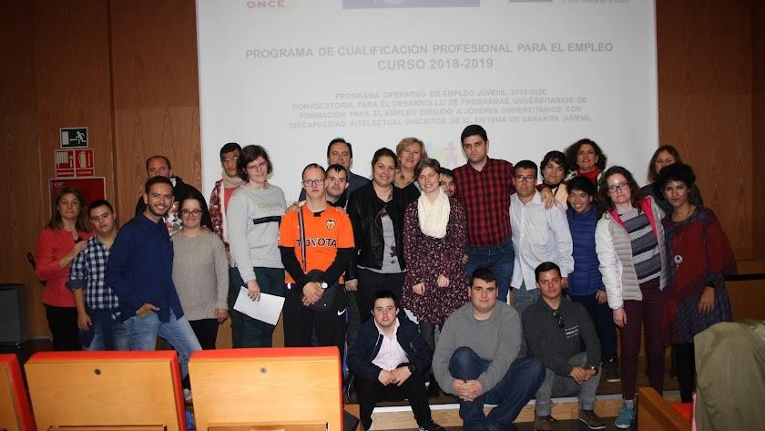 Grupo de estudiantes de Cualificación Profesional de Empleo.