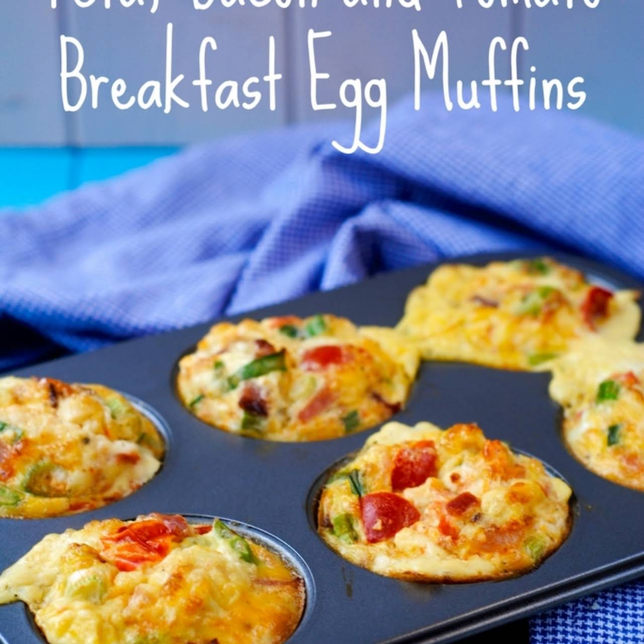 Feta, Bacon and Tomato Breakfast Egg Muffins