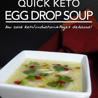 Egg Fast Recipe | Quick Keto Egg Drop Soup – Induction & Page 4 Friendly.