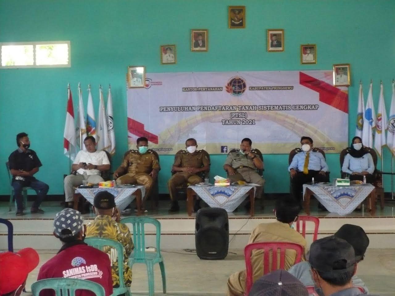 Sosialisasi Penyuluhan Pendaftaran Tanah Sistematis Lengkap (PTSL)Tahun 2021 Pringsewu