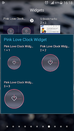 Pink Love Clock Widget 5.5.1 screenshot 1568943