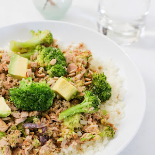 Broccoli Avocado Tuna Bowl.