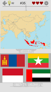 Asian Countries & Middle East - Flags and Capitals- screenshot thumbnail
