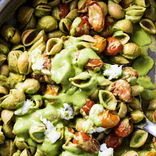 Warm Caprese Pesto Pasta Recipe