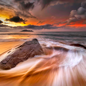 Waves away by Dany Fachry - Landscapes Beaches