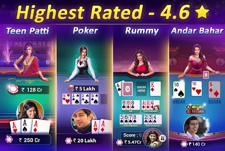 Teen Patti Gold – With Poker &Online Rummy Card Game App Download For Android and iPhone 2