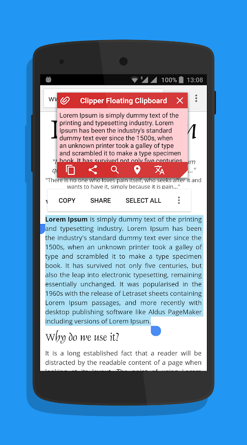 Clipper: Floating Clipboard- screenshot