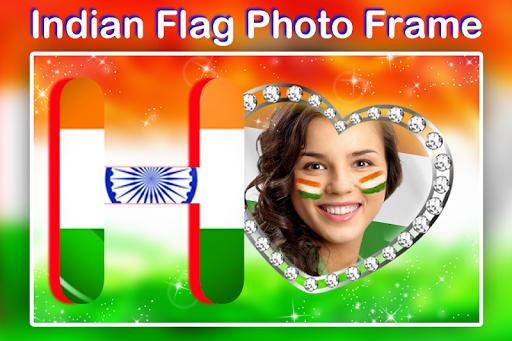 Indian Flag Text Photo Frame screenshot 2