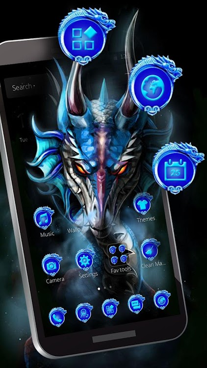 Cool Blue Ice Dragon Theme – (Android Εφαρμογές) — AppAgg