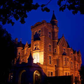 Historic Scotland by Teri Garrison-Kinsman - Buildings & Architecture Public & Historical ( scotland at night, scottish hotel, scotland, historic scotland, aberdeen scotland, ardoe house hotel, ardoe house, scottish manor, aberdeenshire scotland )
