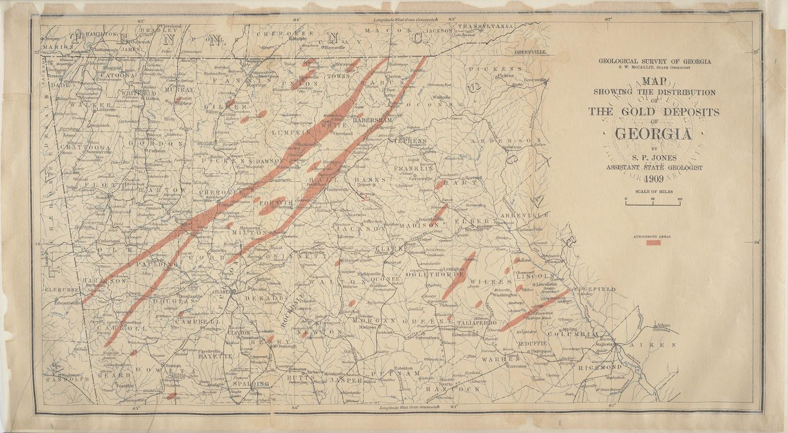 Georgia Gold Deposits  Paulding County Genealogical Society