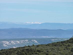 Photo: panoramique depuis le Taoumé, Garlaban. Montagnes enneigées, neige