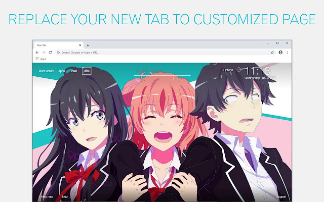 Oregairu Wallpaper Anime NewTab freeaddon.com