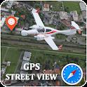 GPS Satellite View Navigation Maps & Compass icon