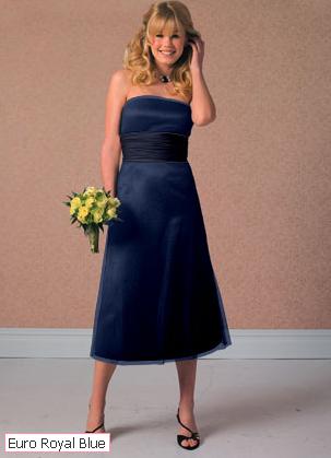 knee_length_bridesmaid_dress_teal