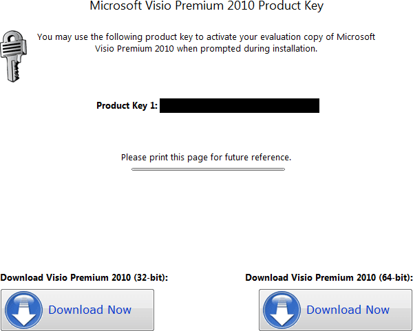 once you re verify your email account click on the continue button and you will see the screen below finally - Ms Visio 2010 Key