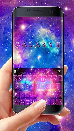 Galaxy2 Starry Keyboard Themes Android App Screenshot