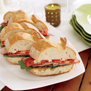 Ham and Gorgonzola Sandwiches.