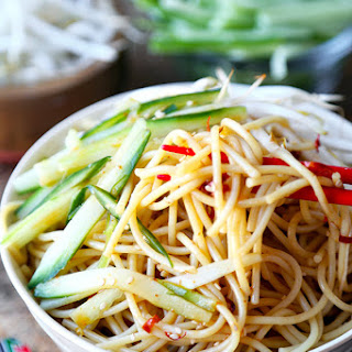 Cold Asian Noodle Salad.