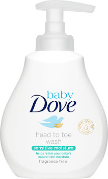 Baby Dove Sensitive Moisture Fragrance Free Head to Toe Wash - 200ml