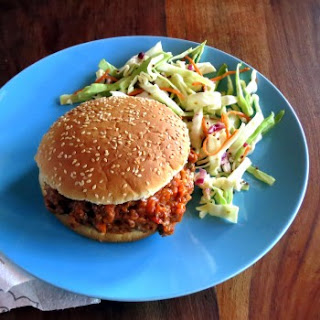 Skinny Sloppy Joes with Tangy Slaw (pressure cooker recipe)