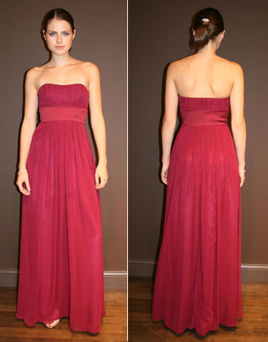 sumptuous dress for bridesmaid