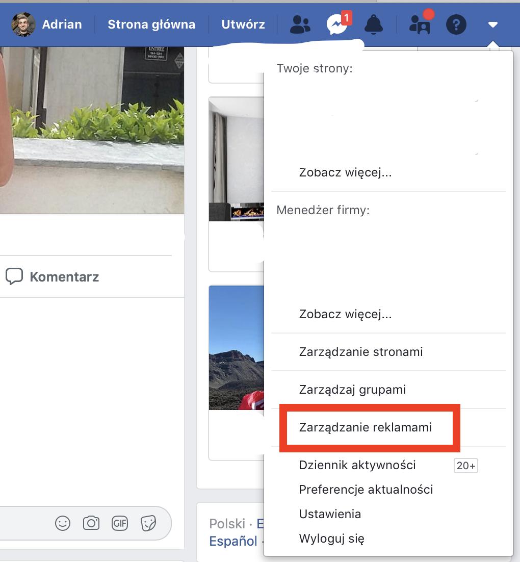 facebook udzielanie dostępu do menadżera reklam