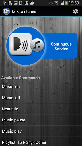 Talk to Music - iTunes speech