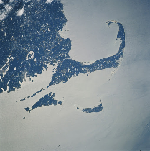 U.S. eastern seaboard with Cape Cod taken from Atlantis during STS-106