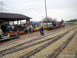 Photo: Bob Barnett, Trainmaster, in the organge cap   2014-0315 DH3