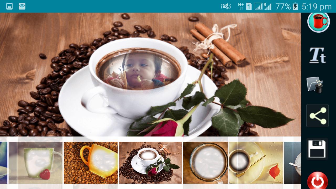 Coffee cup frames - Coffee Cup Frames Screenshot