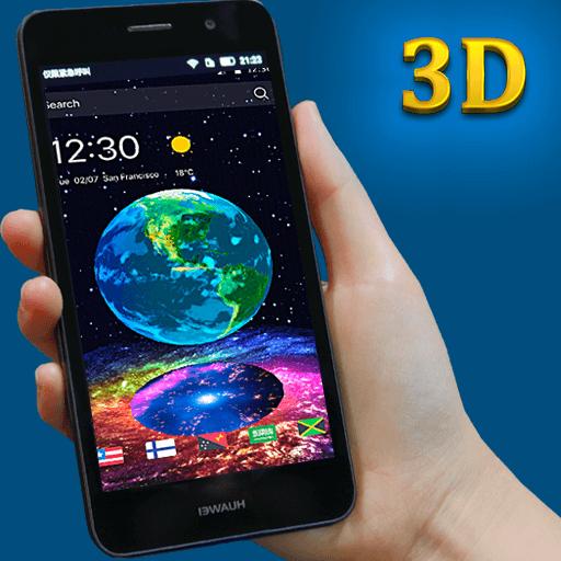 スペース3Dのテーマで、地球 個人化 App LOGO-APP開箱王