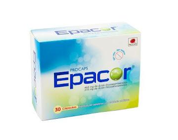 Epacor 465/375Mg x30Cap.   PRO Ácido Eicosapentaenoíco Docosahexaenoíco