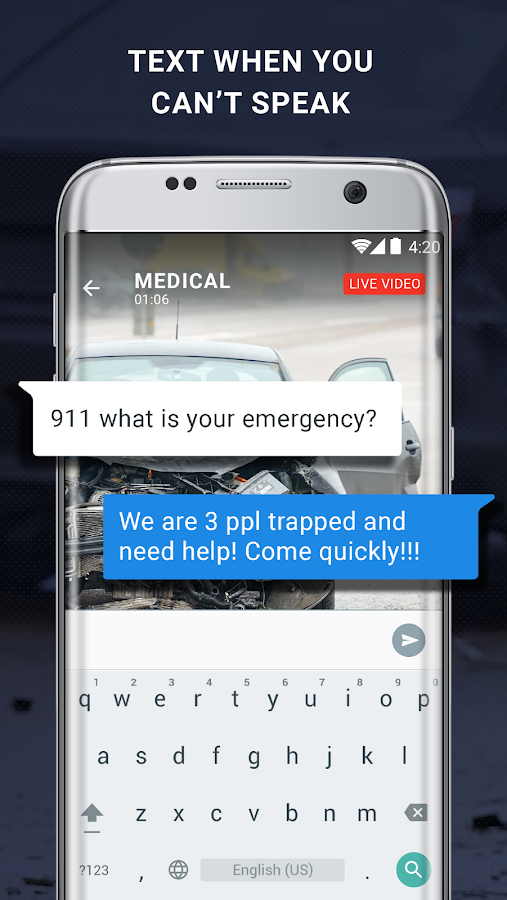 Reporty - Emergency Video Calls- screenshot