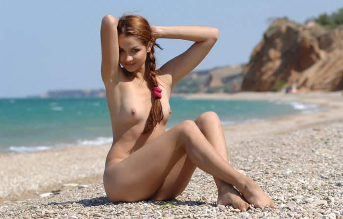 Young nudist