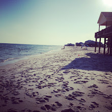 Photo: The afternoon sun coming down on the beach