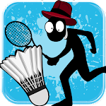 Stickman Badminton Icon