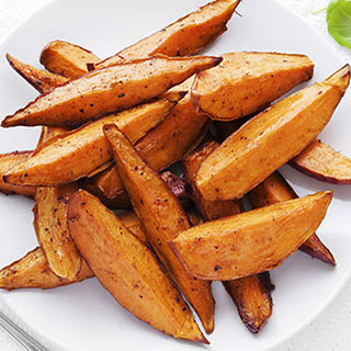 Maple Cinnamon Sweet Potato Wedges