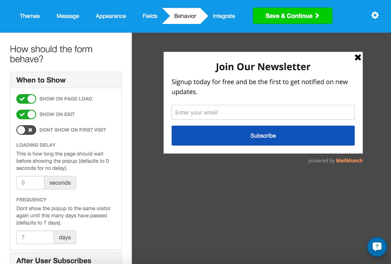 mailchimp app shopify